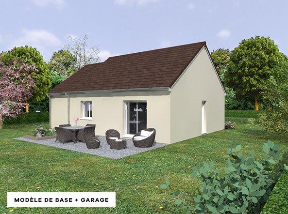 modèle de base de maison avec garage